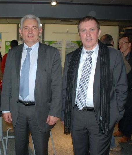 Remy losser président CT2F et Philippe Suire, président de Poitou tabac